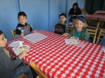 Lunch in the Sukkah
