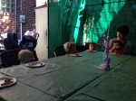 The toddlers visit a Squirrel Hill Sukkah