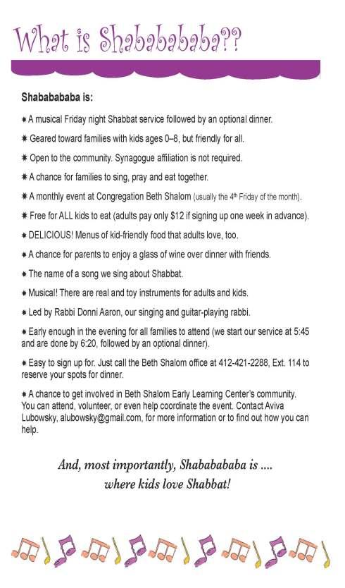 Shababababa info sheet